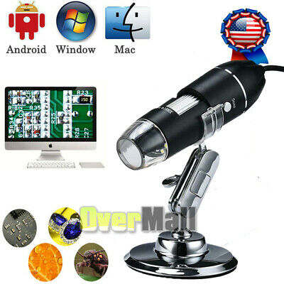 1600x 8 Led Usb Digital Microscope Endoscope Magnifier Camera Stand Kit