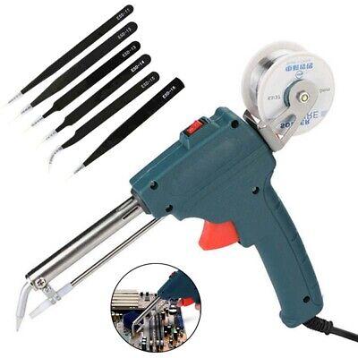 60w Welding Electric Soldering Iron Heat Soldering Gun Heating Send Tin 110-220v