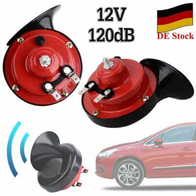 2x Hupe Horn 12V Universal Auto KfZ LKW 2 KLANG Laute Schnecke Horn