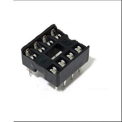 20pcs 8 Pin Dip8 Integrated Circuit Ic Sockets Adapters Solder Type