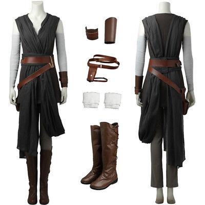 Top Grade Star Wars The Last Jedi Rey Cosplay Costume Custom - Custom Made Jedi Kostüm