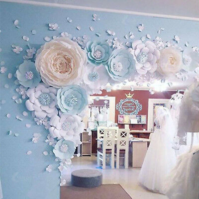 Large 3D Paper Rose Flower 30/40cm Backdrop Wedding Party Wall Garden Decor