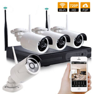 LOFAM Home DIY HD Wireless 4CH 720P NVR CCTV System