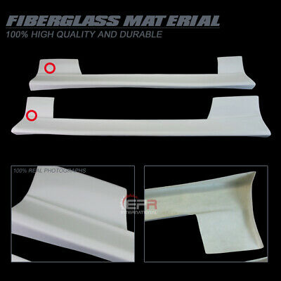 For Nissan S13 180SX SU Style FRP Fiber Unpainted Side Skirt Body kits