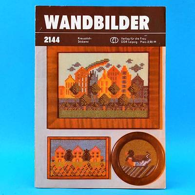 ich-Stickerei | Verlag für die Frau # 2144 | DDR 1983 (Kreuze Für Die Wand)