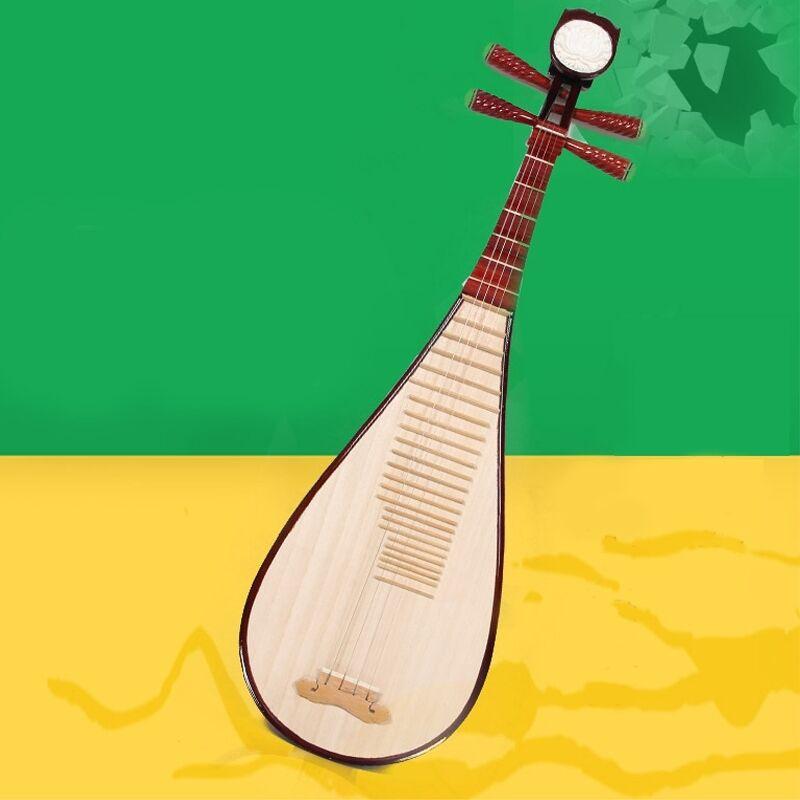 Liuqin - Chinese Soprano Pipa Lute Guitar Handmade Musical Instrument #4167