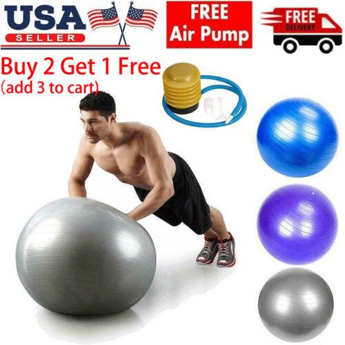 Yoga Ball w/Air Pump Anti Burst Exercise Balance Workout Sta