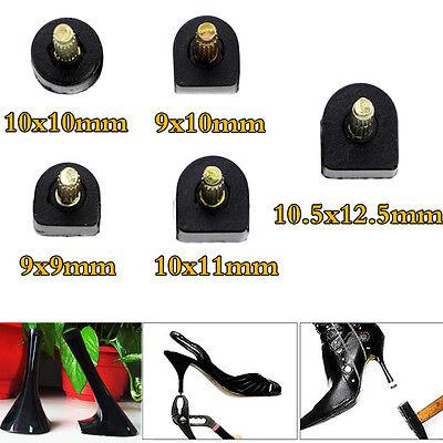 60pcs Black High Heel Shoes Tips Replacements Shoe Repair Stilettos 5 Size