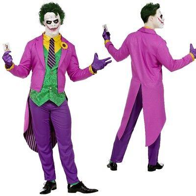 MAD JOKER Kostüm Herren Anzug Männer Bösewicht Outfit Psycho Halloween -