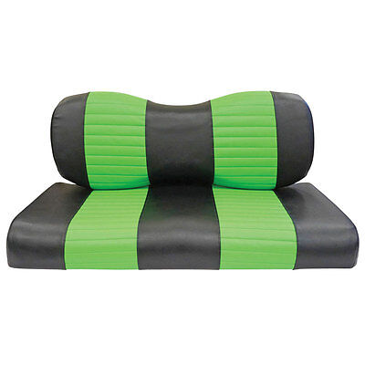 Golf Cart Custom Front Seat Covers Black Lime Green CLUB CAR PRECEDENT 2004+ Club Car Golf Cart Seat Covers