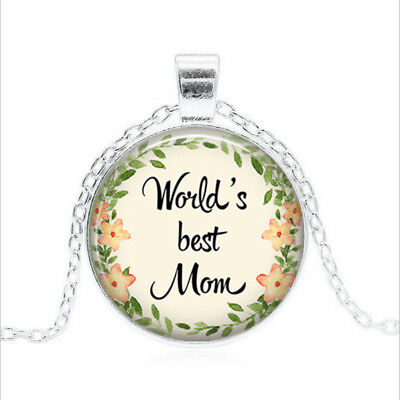 World's Best Mom Tibet silver Glass dome Necklace chain Pendant Wholesale - Worlds Best Mom