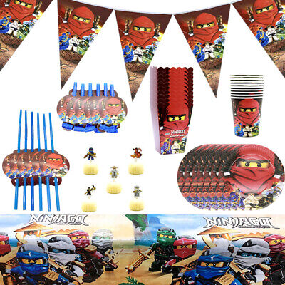 Ninjago Birthday Party Boys Tableware Decoration Kids  Plates Tablecloth Banner