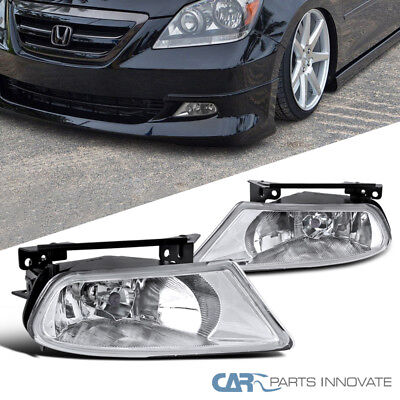 Fit 05-07 Honda Odyssey Clear Fog Lights Driving Bumper Lamps+Switch+H8 Bulbs