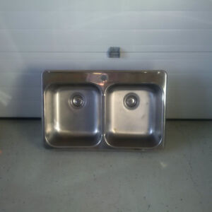 Kitchen sink for sale. Stainless steel. Double sink.