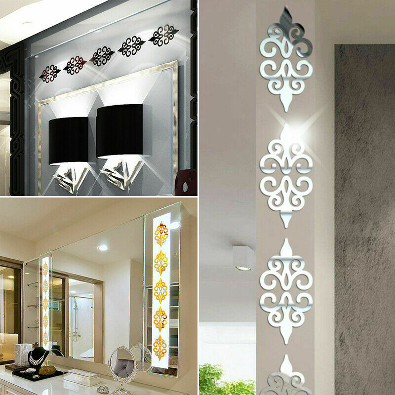 Home Decoration - 3D-Mirror Flower Removable Wall Sticker Art Acrylic Mural Decal Wall Home Decor
