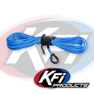 """KFI Products ATV Synthetic Winch 3/16"""" x 50' Plow Cable Rope - BLUE - SYN19-B50"""