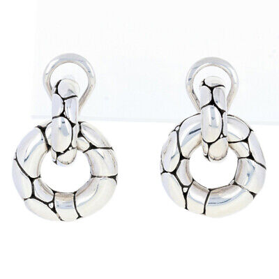 NEW John Hardy Sterling Silver Earrings - 925 Kali Small Door Knocker Pierced
