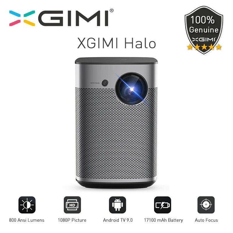 XGIMI HALO 1080P HD Projector, Built-in Android 9 Google TV, 800 ANSI LUMENS