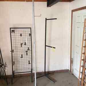 Bird feeder/ display rack/ hockey equipment dry rack