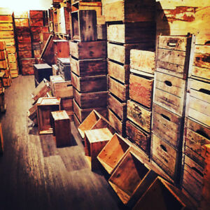 100% original wooden crates