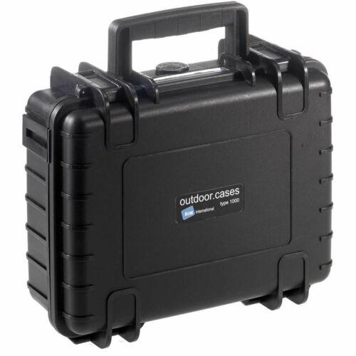 B&W International Type 1000 Hard Shell Outdoor Case Black w Custom Foam