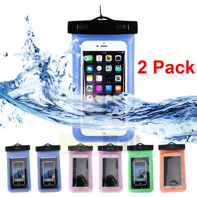 Dry Pack Cell Phone Cases (2 Pack Swimming Waterproof Underwater Pouch Bag Pack Dry Case for smart Phone )