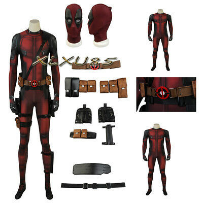 Deadpool Costume Sale (Hot Sale Deadpool 2 Wade Cosplay Costume Deadpool Suit Halloween Zentai 3D)