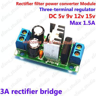 Acdc Power Supply Module To Dc 5v 9v 12v 15v Rectifier Filter Voltage Converter