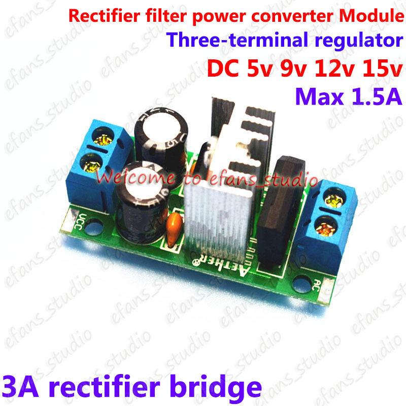 AC//DC to 5V-15V Rectifier Filter Voltage Converter Regulator Power Supply Module