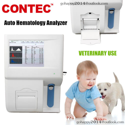 New CONTEC kt-6300 VET auto hematology analyzer veterinary color touch screen