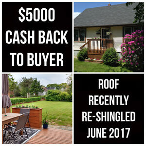House For Sale + $5000 Cash Back + New Roof