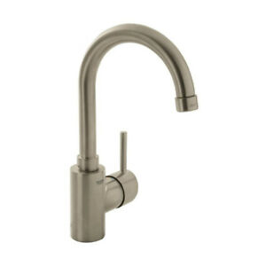Grohe 32138ENA Concetto Lavatory Faucet Tall Spout Brushed Nicke