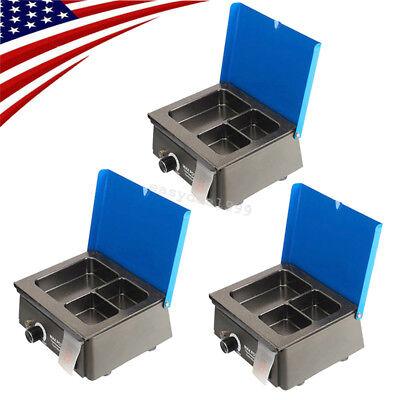 3x Dental Analog Wax Heater Pot 3-well Digital Waxer Melter Melting Dipping 300w