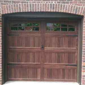 Mahogany Carriage Garage Doors......... $1500 Installed