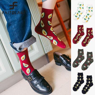 2018 Men Women Cotton Socks Friut Avocado Pineapple Printed Sports Funny Socks