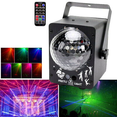 60 IN 1LED RG Laser Magic Ball Stage Light Club Pattern Disco Party DJ w/ Remote