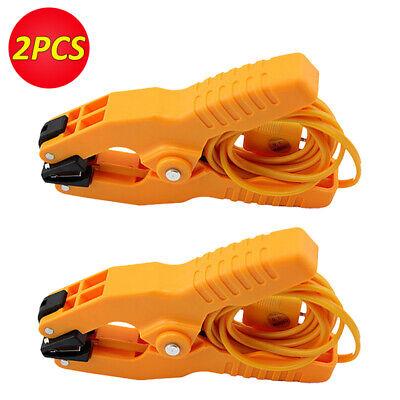 2pcs K-type Probe Pipe Clamp Thermocouple Temperature Lead Thermocouple -40200