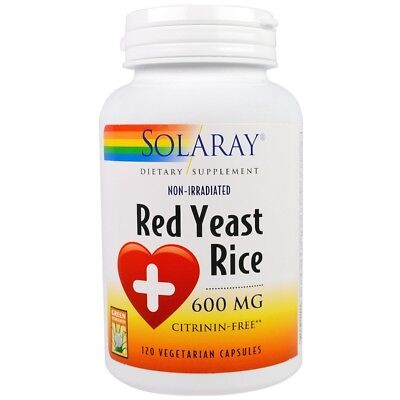Solaray - Red Yeast Rice, 600 mg, 120 Veggie Caps 600 Mg 120 Veggie Caps