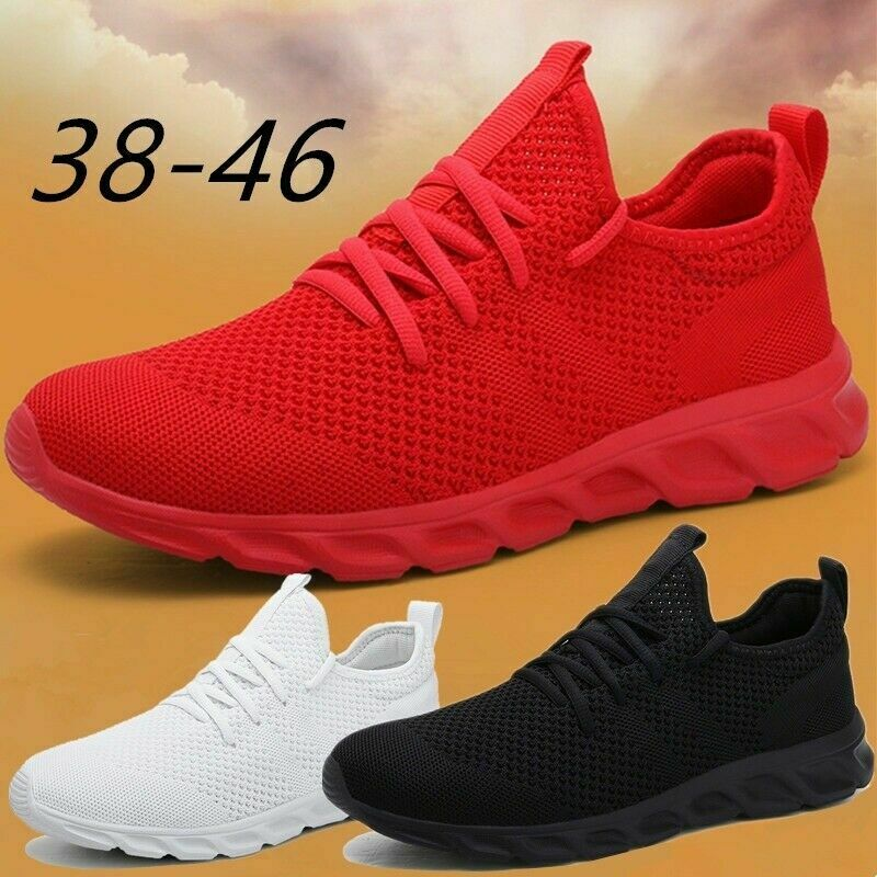 Men's Running Breathable Tennis Shoes Sports Casual Walking