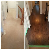 Professional Sanding and Refinishing of hardwood flooring