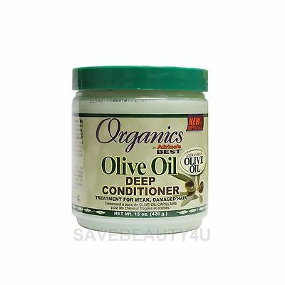 1Pc Organics by Africa's Best Olive Oil Deep Conditioner for Damaged Hair
