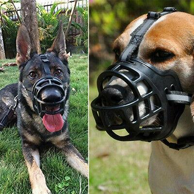 XS~XXL Dog Muzzle Basket Soft Silicone Mesh Mouth Cage Mask No Bark Bite Train