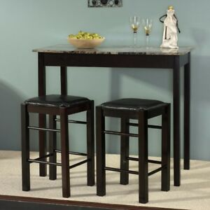 3 Pc Prosser counter height dining set