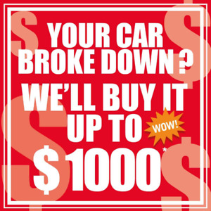 CASH for your old car! Up to 1000 $*!