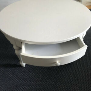 Coffee Table (Round, white) Discontinued from Ikea