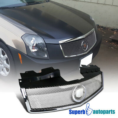 For 2003-2007 Cadillac CTS Front Hood Grill S/S Mesh Grille