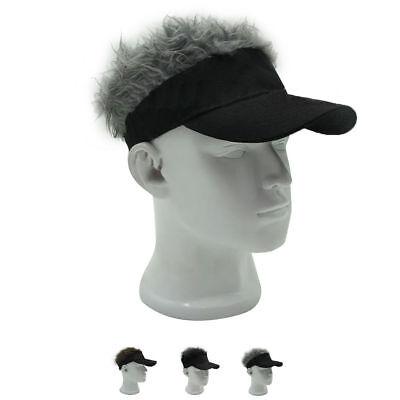 Funny Men Adjustable Flair Hair Visor Casquette Hat Golf Fashion Wig Cap](Funny Hair Hats)