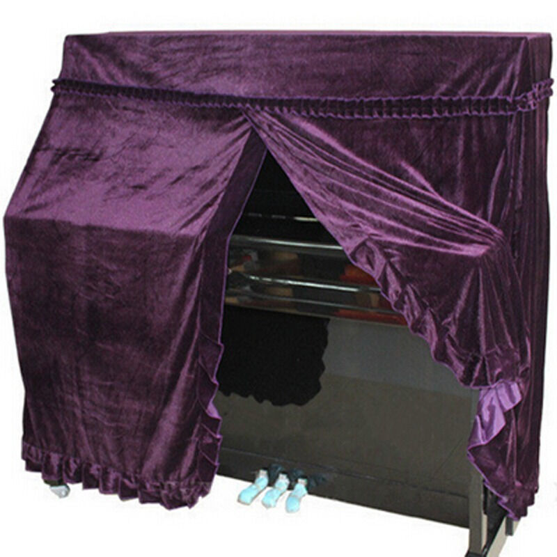 High Quality Upright Piano Dust Cover All Covers Full Size 152x60x110cm Purple