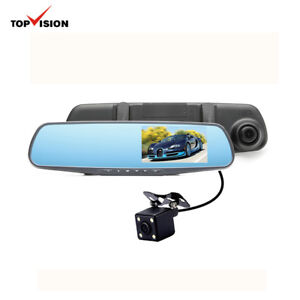 4.3 inch HD 720P 2-channel Car Mirror DVR