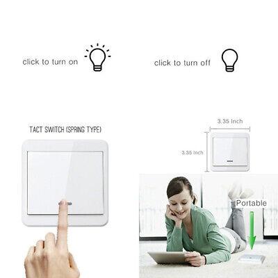Wireless Wall Transmitter (Portable Wireless Remote Transmitter No Wall Power Wall Light Smart Switch 86 US)